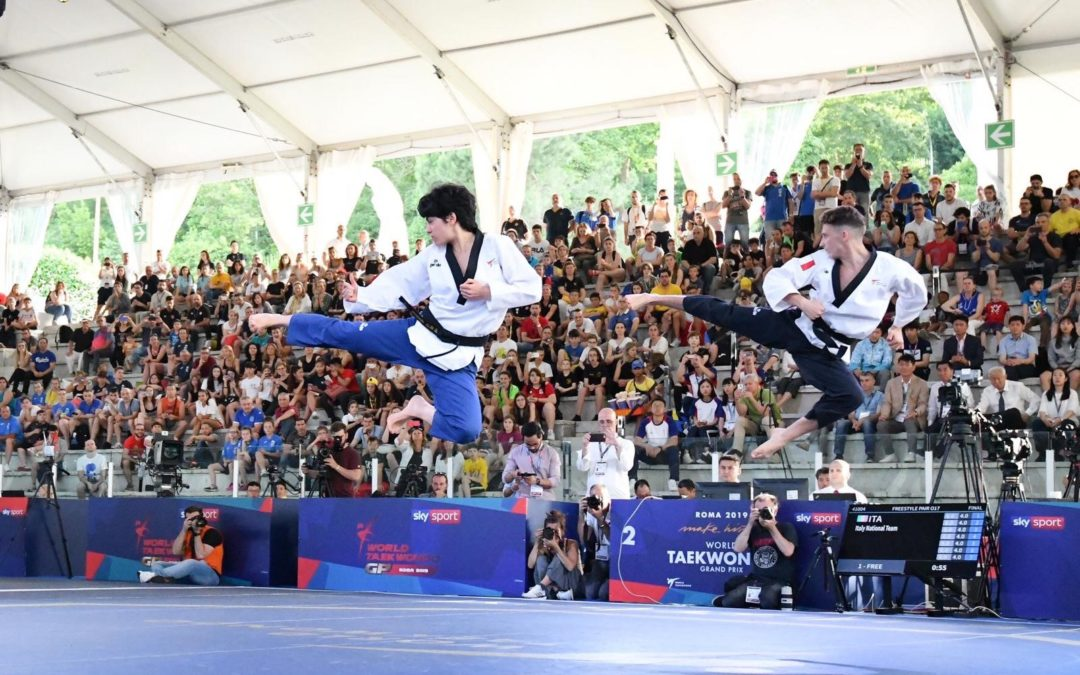 Roma – Mondiale di freestyle Taekwondo – DUE MEDAGLIE